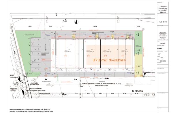 Plan locaux commerciaux à Salleboeuf