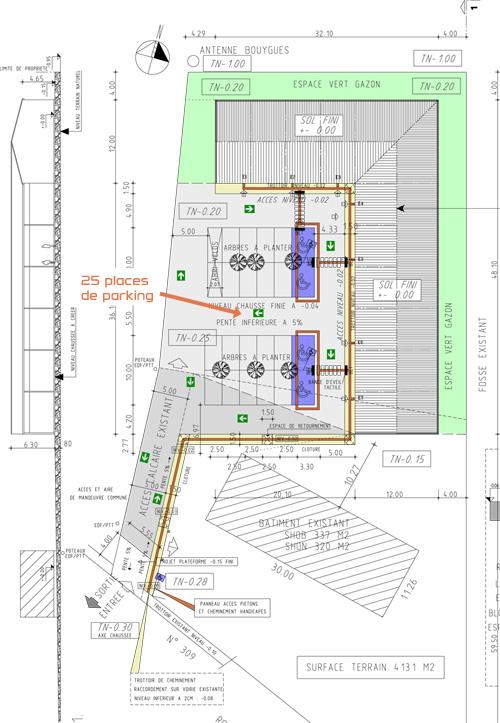Eysines plan de masse LAPORTE - Agence Parallel Immobilier